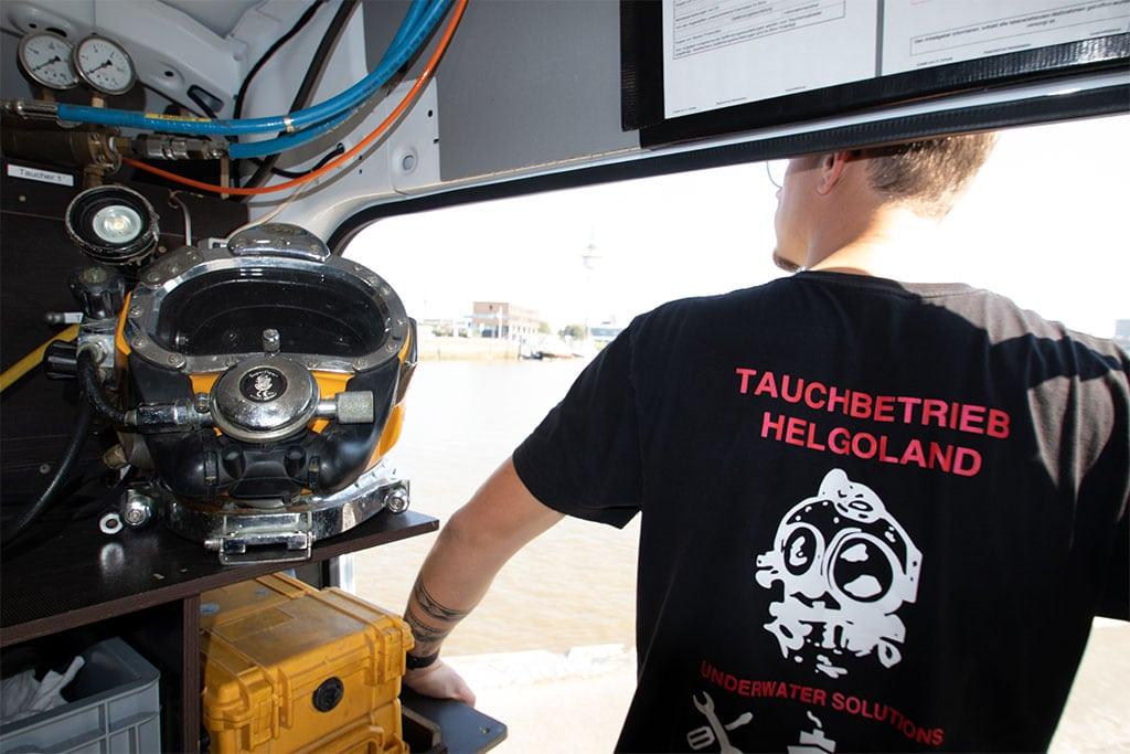Equipment Berufstaucher Tauchbetrieb Helgoland