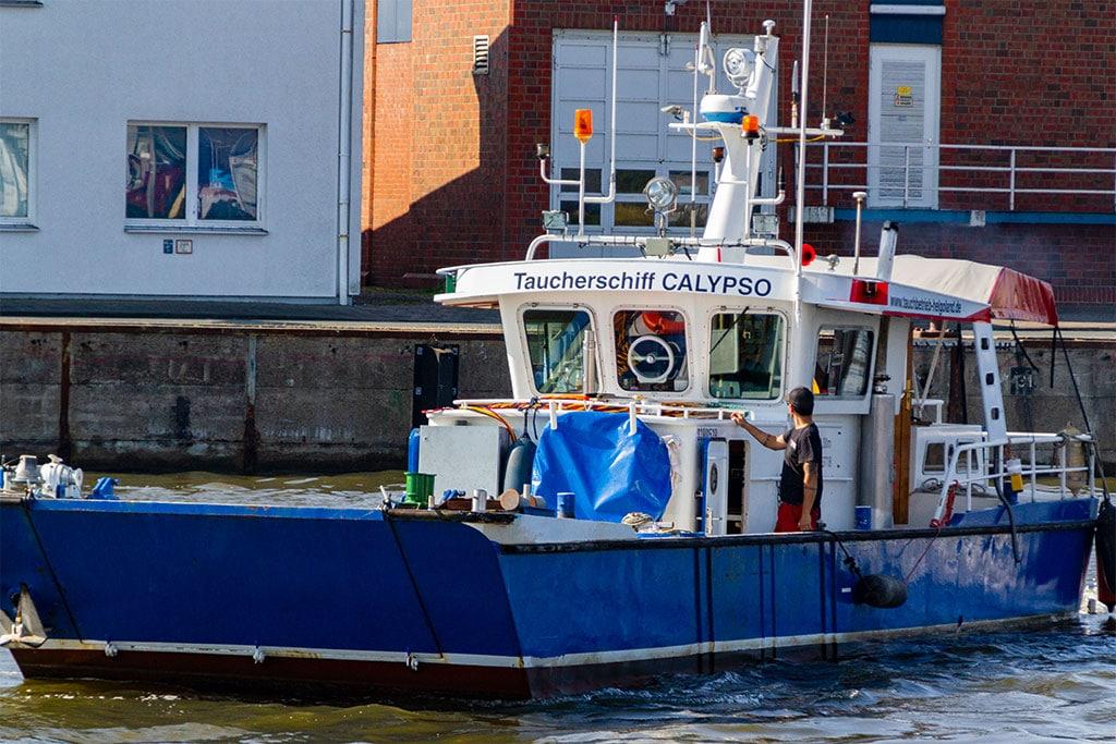 Tauchschiff MY Calypso Tauchbetrieb Helgoland